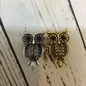 Cute Owl Stretch Ring Bundle